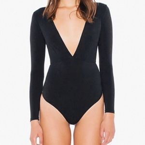 American Apparel S Black One Piece Thong